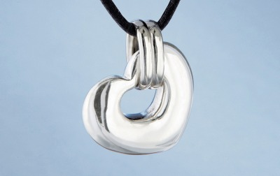 Nambe Heart Pendant in Sterling Silver